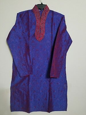 Indian/pakistani Wedding Wear Made With Brocade Silk  Kurta Pajama Size  40""