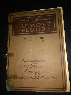 Extremely Rare Book  from the  1913 Fremont Ohio  Flood   Antique Vintage