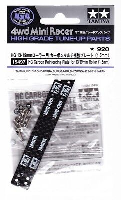 TAMIYA 15497 MINI 4WD HG CARBON REINFORCING PLATE FOR 13/19mm ROLLER (1.5mm)