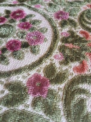Vintage Chenille Cushion Panel, 44cm x 39cm, Perfect For Your Own Project