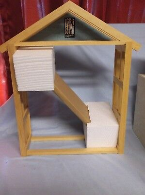 """RAINE by WILLITTS WOOD DISPLAY RACK """"TAKE A SEAT"""" NEW WITH BOX #24802"""