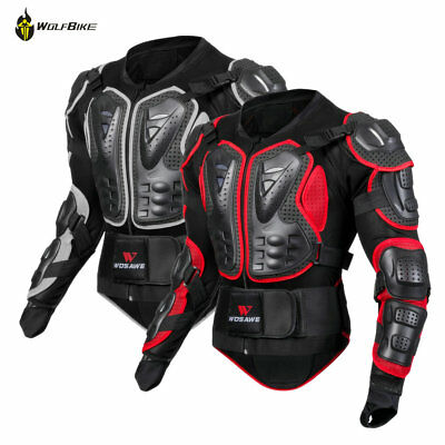 Motorcycle Body Armor Jacket Protective Adult Motocross Chest Shoulder Guard