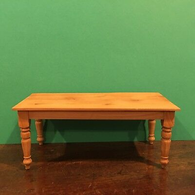 Dollhouse Miniature Handcrafted Pine Wood Kitchen Dining/ Prep Table Scale 1:12