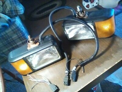 Meyer Snow Plow Lights Truck Lite Headlights Western Boss Universal Set Work