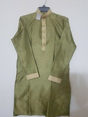 Bollywood Style Self Printed Men's Kurta Size 36""