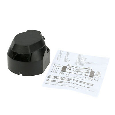 12V 13-Pole Tow Bar Towing Socket Frosted Material 13-Pin Trailer Socket N H6B1