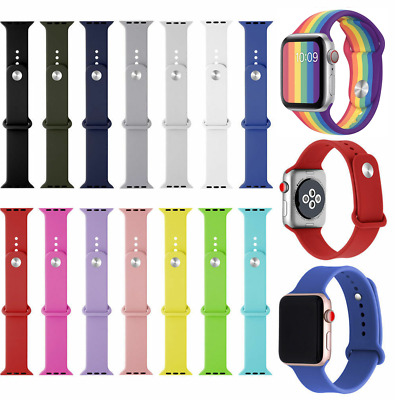 Replacement Silicone Soft Strap for Apple Watch Series 1 2 3 38mm 42mm