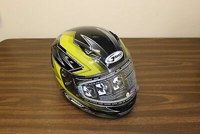 3469b4a0 New GMAX Snowmobile Helmet Full Face Yellow / Black Graphics Size XL,  Xtra-Large