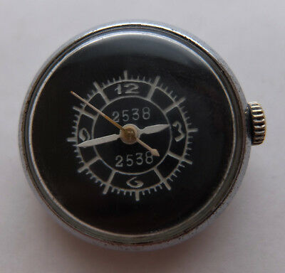 Rare ZIM «button» USSR Soviet Air Force aircraft gun camera clock watch 2538