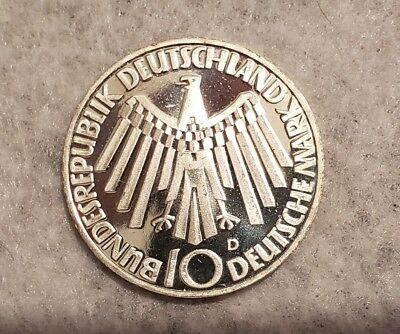 1972D Germany silver 10 Mark coin