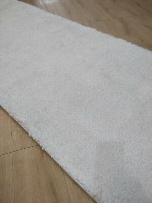 White Shaggy Hallway Rug, Runner, (80cm Width), Assorted Lengths NEW