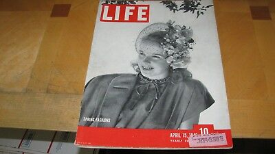 1946  Life Magazine  April 15  Spring Fashions  High Grade Lowest Price On Ebay