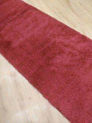 Red/maroon Shaggy Hallway Rug, Runner, (80cm Width), Assorted Lengths NEW