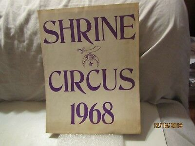 1968 Shrine Circus Program w/Bobo the Clown