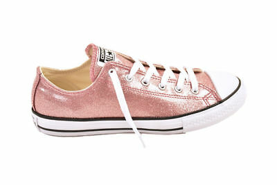 3c843e6ed5d262 Converse CTAS OX 660045 Sneakers Rose Gold Sparkle SZ 1 Junior NEW! Ships  Free!