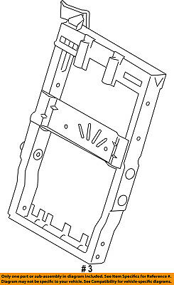FORD OEM 15-18 F-150 Front Seat-Seat Back Frame FL3Z9661018A