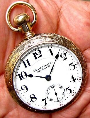 Antique 21 Jewels 18 Size Gold Filled Pocket Watch Hamilton 940