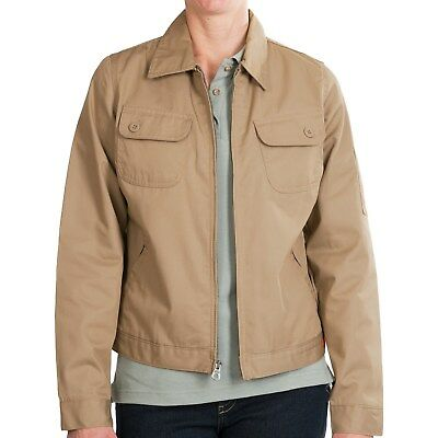 Dickies Womens Heritage Jacket M L XL Desert Sand Cotton Poly Twill Work Uniform