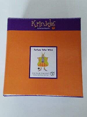 Department 56 Krinkles Brewster Fortune Teller Witch   Halloween New with tags!