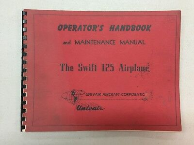 Vintage The Swift 125 Airplant Operators Handbook & Maintenance Manual