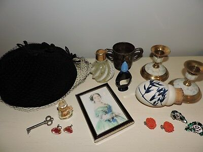 Antique Vintage Perfume Bottles Jewelry Junk Drawer Lot