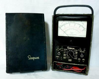 Vintage Simpson Model 260 Volt Ohm Meter Multimeter