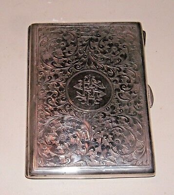 Antique Sterling Silver COLEN CHESHIRE Card Case & Notebook w/Pencil - 1903
