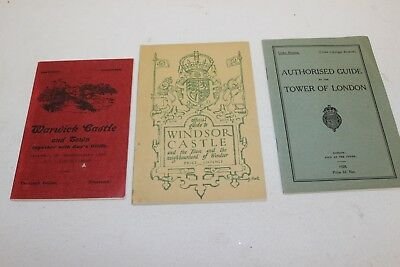Three Souvenir Booklets from England 1920's