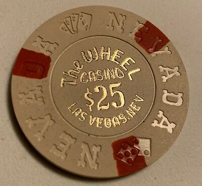 The Wheel Casino $25 Casino Chip Las Vegas Nevada 2.99 Shipping