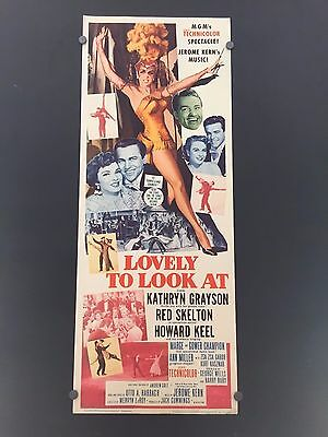 Original 1962 LOVELY TO LOOK AT Insert Movie Poster 14 x 36 RED SKELTON