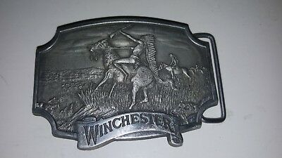 Vintage Belt Buckle Lot Winchester, Running Strong Indian Cheif 1981 Olin