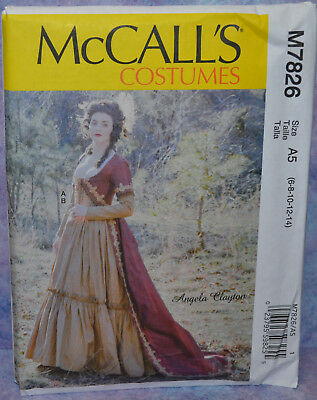 McCall's Pattern 7642 Uncut Misses Gown Outlander Pattern Size 6-14 Clayton