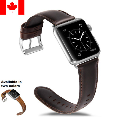 Genuine Leather Replacement Strap Band For Apple Watch All Series 38/40/42/44mm