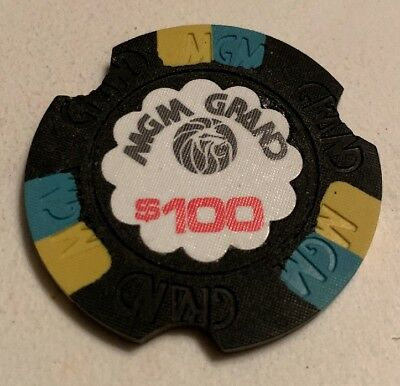 MGM Grand $100 Casino Chip Las Vegas Nevada 2.99 Shipping