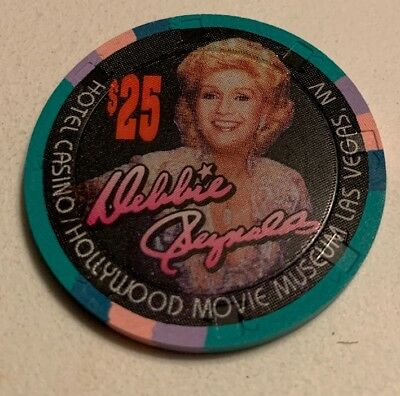 Hollywood Movie Museum Debbie Reynolds $25 Casino Chip Las Vegas Nevada