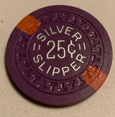 Silver Slipper $.25 Casino Chip Las Vegas Nevada 2.99 Shipping