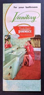 Fun ! Mid Century Architecture, Formica Vanitory Bathroom Advertisement Brochure
