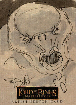 The Lord of the Rings Masterpieces Sketch Card - Ray Dillon - Cave Troll