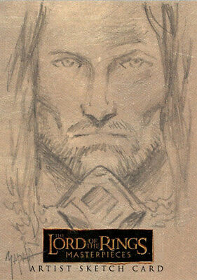 The Lord of the Rings Masterpieces Sketch Card - Jeff Zapata - Aragorn - RARE
