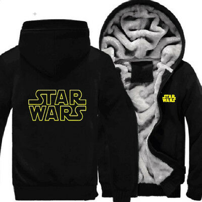 Men Star Wars Darth Vader Hoodies Coat Winter Fleece Thick Winter Jacket Sweater