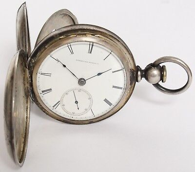 ANTIQUE COIN SILVER AT&Co WALTHAM APPLETON TRACY & CO FULL HUNTER POCKET WATCH