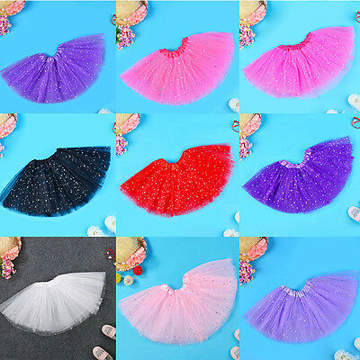 Baby Kids Girls Princess Stars Sequins Party Dance Ballet Tutu Skirts Dress