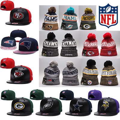 NFL Super Bowl Fans Hat Winter Sports Cap Outdoor Cycling Warm Wool Knit Hats