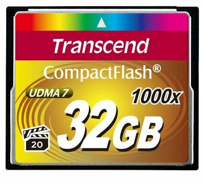 Transcend CF 32GB 1000X 160MB/s Read 70MB/s Write Compact Flash Card New tbs UK