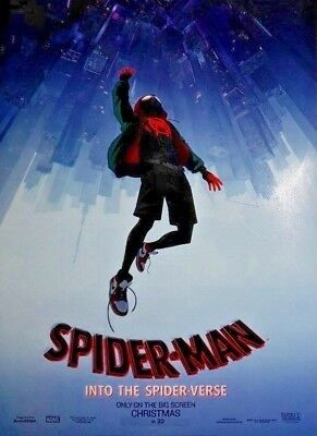 Spider-man into the Spider Verse in 3D Double Sided Original Movie Poster 27x40
