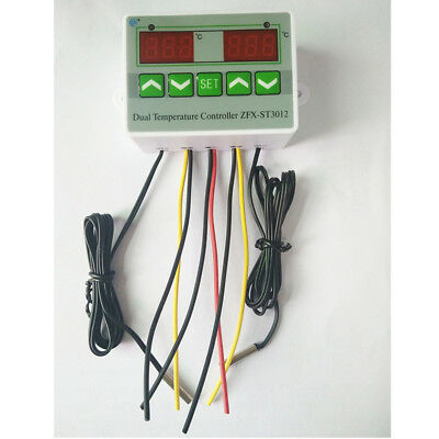 Digital Temperature Controller Incubator Heat Cool Temp Control Sensor Switch
