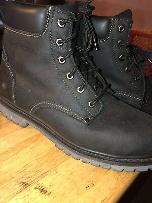deb642149cd USED MENS CHINOOK OIL RIGGER Black Leather STEEL TOE Work Safety Boots  Shoes 11