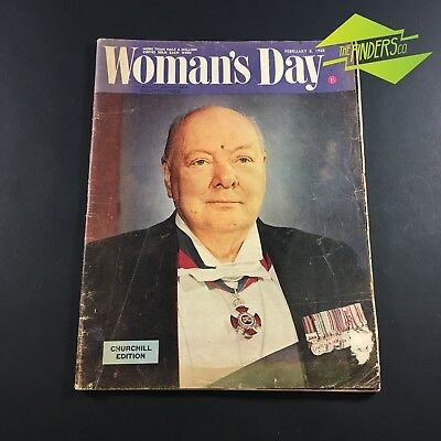Feb 1965 'woman's Day' Magazine Newspaper Churchill Edition Vintage Advertising