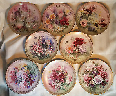 Set 8 Plates Lena Liu SYMPHONY OF SHIMMERING BEAUTY Series W S George Fine China