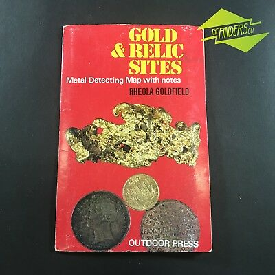 "Vintage ""rheola Goldfields""gold & Relic Sites Metal Detecting Map With Notes"